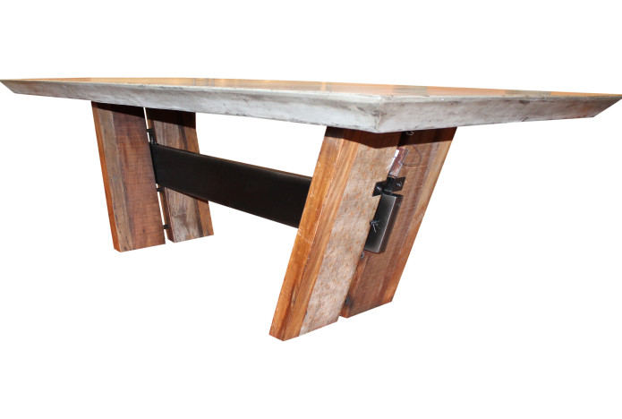 Concrete Dining Room Table : concrete table 1 695x468 from hwiki.us size 695 x 468 jpeg 57kB